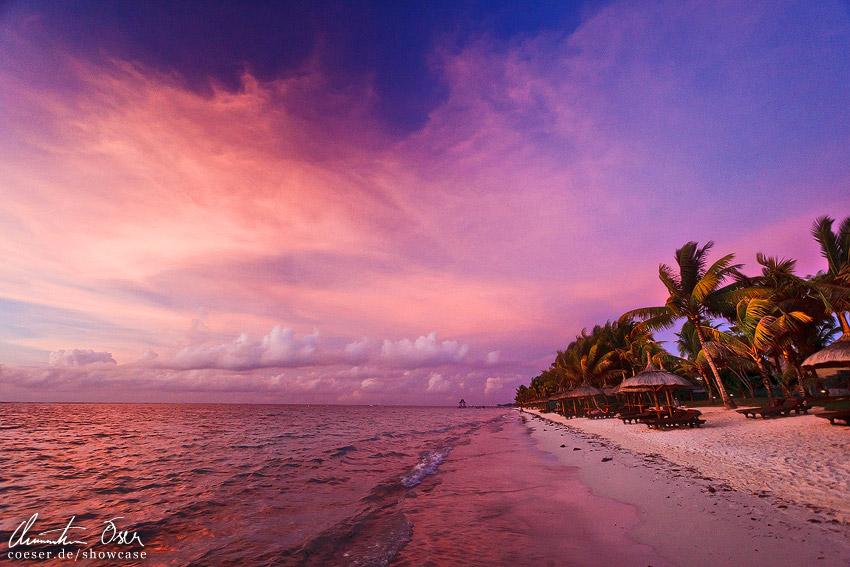 Magenta Sunset Trou Aux Biches Mauritius