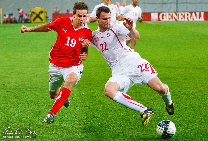 UEFA Friendly match  Austria - Switzerland 0 1  2011Austrian Sports